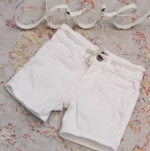 Oshkosh Girl's White Denim Shorts 2T